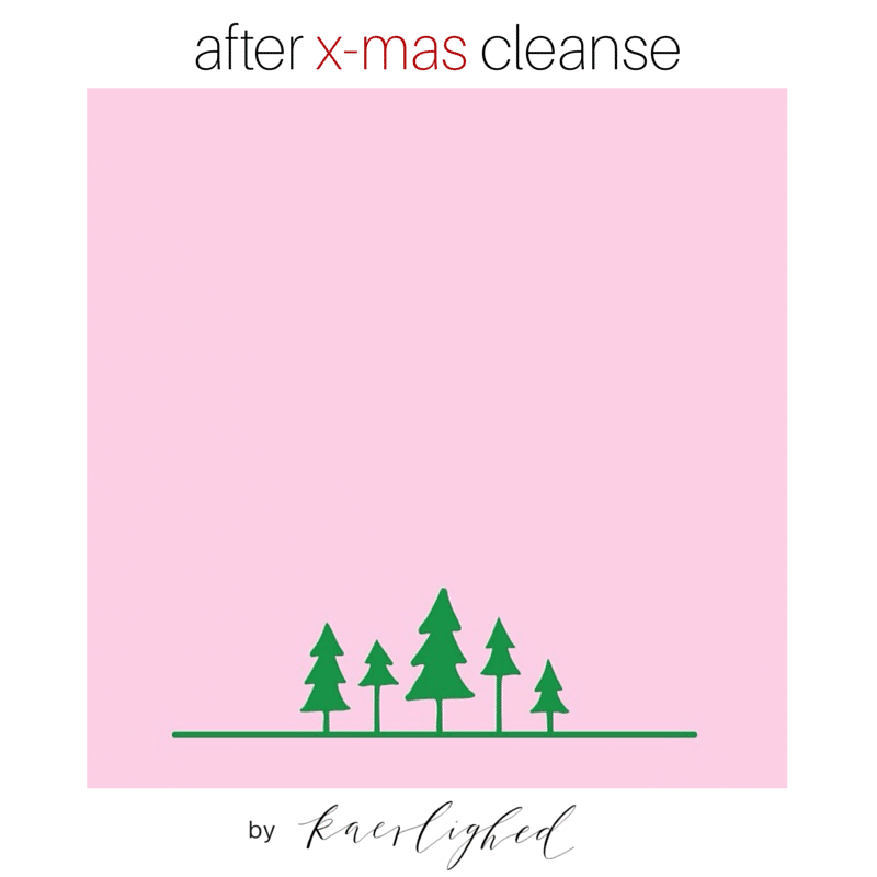 after x-mas cleanse